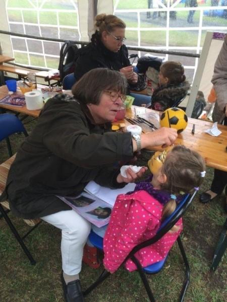 Kinderschminken Kinderfest DJK Ewaldi